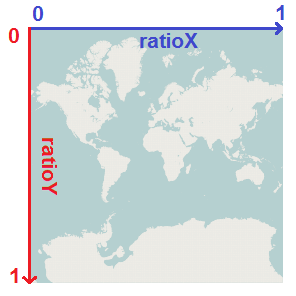 ratio values on map