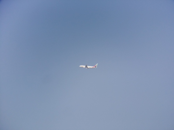Airplane, with lens