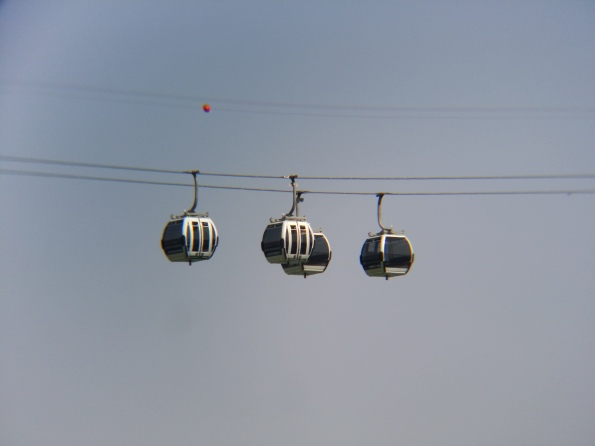 Cable car, with lens